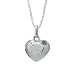 Silver Cremation Heart
