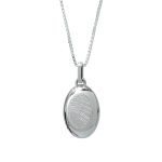 Silver Cremation Oval