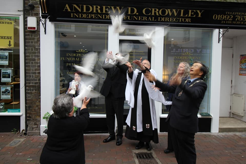 Opening Day! Andrew D. Crowley Funeral Director Waltham Abbey